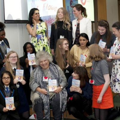 Miriam Margolyes, Aneeta Prem, Vineeta Thornhill, savita prem, Leela Carr, Lydia Woodbridge, cut flowers, fgm , freedom charity