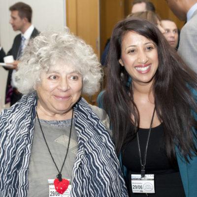 Miriam Margolyes, cut flowers fgm book launch, freedom