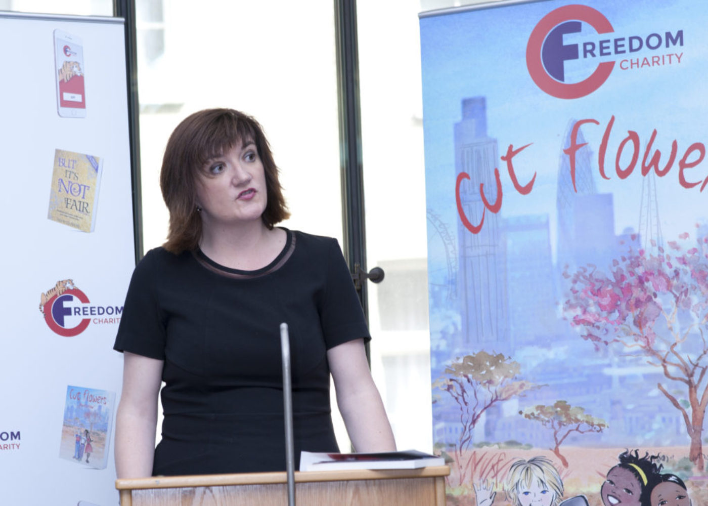 Nicky Morgan MP at Cut Flwoers book launch