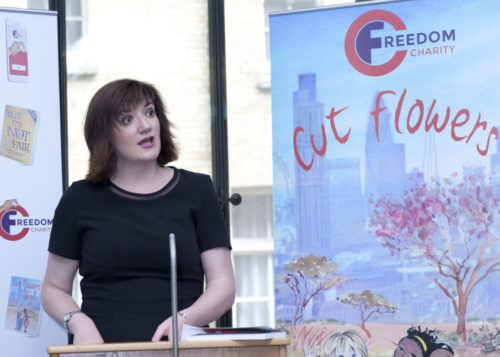 nicky morgan MP, cut flowers, fgm