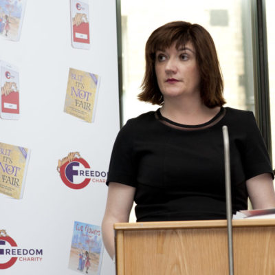 nicky morgan mp, cut flowers, fgm, freedom charity