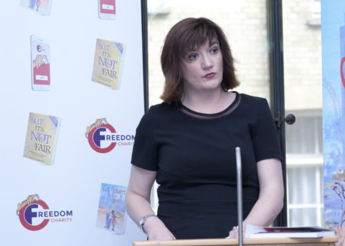 nicky morgan mp, cut flowers, freedom charity,